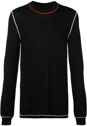 Maison Margiela contrast stitching sweater