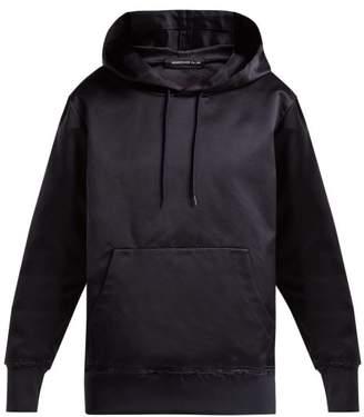 Undercover Silk Hooded Sweatshirt - Womens - Navy