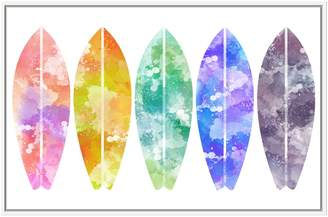 PTM Images Rainbow Surfboards (Framed Giclee)
