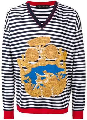 Versace Blasone Barocco striped sweater