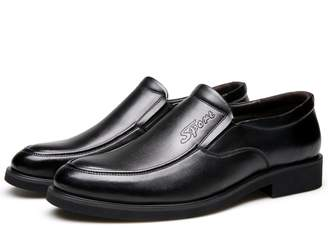 At Canada Leroy Alexis Mens Formal Dress Shoes Leather Lined Slip On Loafers Black