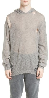 Men's Drifter Odin Destroyed Hoodie Sweater $180 thestylecure.com