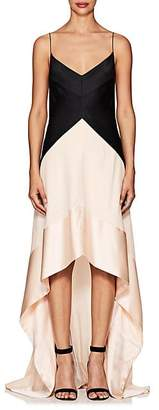 Narciso Rodriguez WOMEN'S SILK SATIN & GEORGETTE GOWN