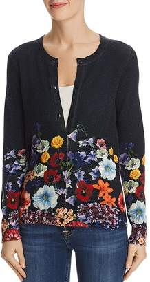 Bloomingdale's C by Floral Cashmere Cardigan - 100% Exclusive