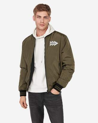Express Brand That Unites Reversible Bomber Jacket