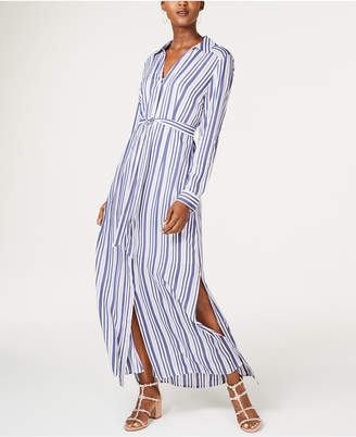 INC International Concepts I.n.c. Striped Maxi Shirtdress