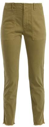 Nili Lotan Jenna Side Stripe Cotton Blend Trousers - Womens - Khaki
