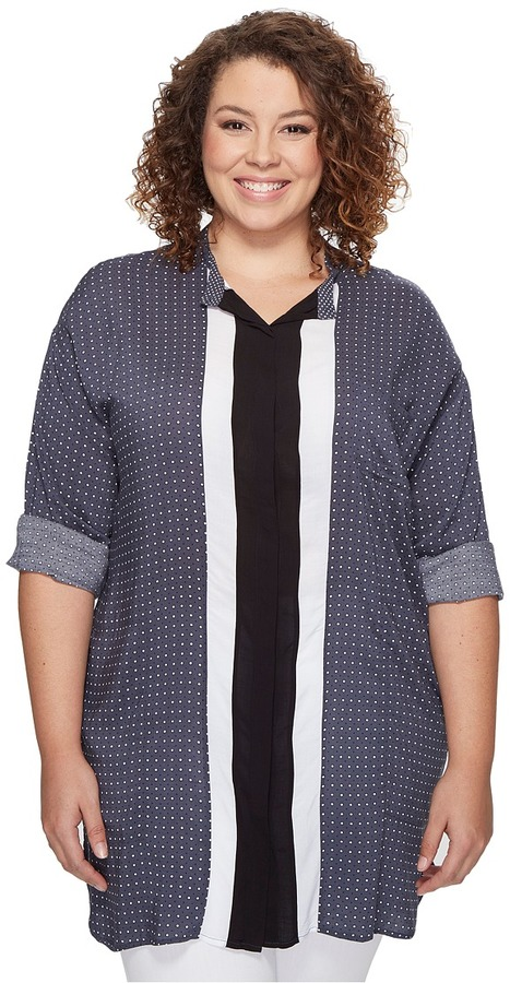 DKNYDKNY Plus Size Long Sleeve Boyfriend Shirt