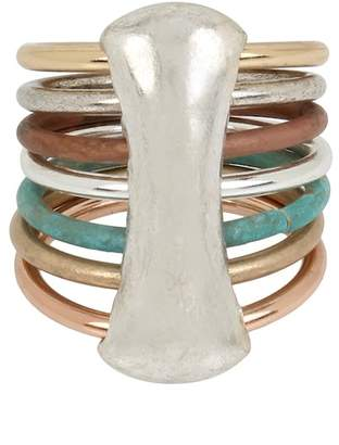 Robert Lee Morris Mixed Multi-Row Ring - Size 8.5