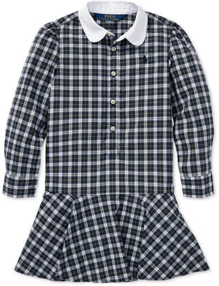 Polo Ralph Lauren Toddler Girls Plaid Cotton Poplin Shirtdress