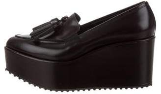 Brunello Cucinelli Leather Platform Loafers