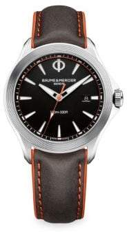 Baume & Mercier Clifton Club 10412 Leather Strap Watch