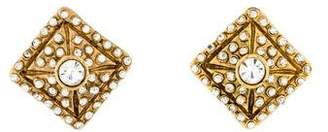 Chanel Crystal Clip-On Earrings