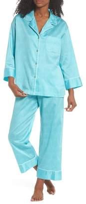 Natori Fan Print Cotton Pajamas