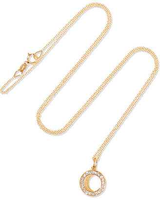 Andrea Fohrman Waning Gibbous Moon 18-karat Gold Diamond Necklace - one size