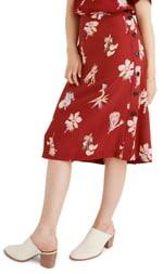 Madewell Bird of Paradise Side Button Skirt