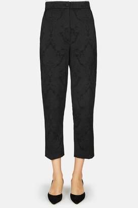 Dolce & Gabbana Dolce Gabbana Floral Jacquard Skinny Pant - Black