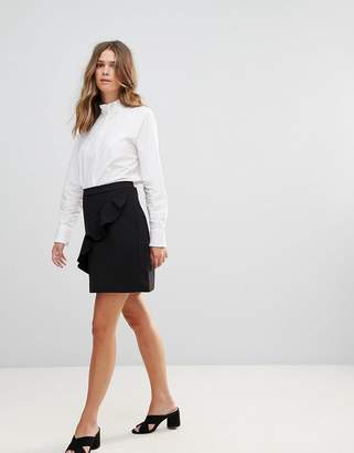 B.young Ruffle Panel Mini Skirt