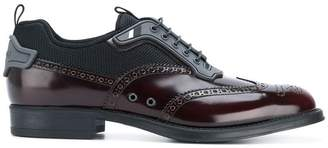 Prada multi-fabric lace-up shoes
