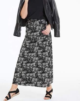 Marisota Petite Floral Linen Mix Maxi Skirt