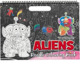 Mandmdirect.Com Aliens A4 Landscape Doodle Book In CDU