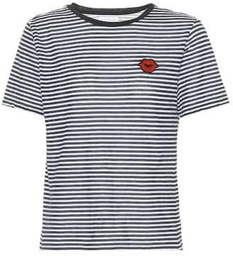 Velvet Rain striped cotton-blend T-shirt