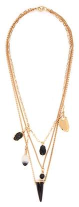 Isabel Marant It's All Right Charm Necklace - Womens - Black