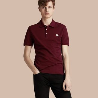 Burberry Fitted Mercerised Cotton-Piqué Polo Shirt $275 thestylecure.com