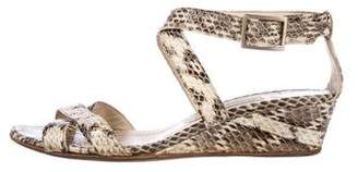 Jimmy Choo Embossed Leather Sandals