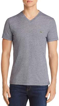 Lacoste Striped V-Neck Tee