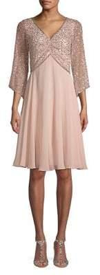 J Kara Embellished A-line Dress