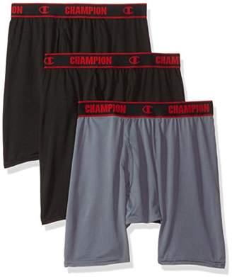 Champion Men's 3-Pack Active Performance Long Boxer Brief
