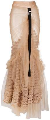 DSQUARED2 ruffled tulle long skirt