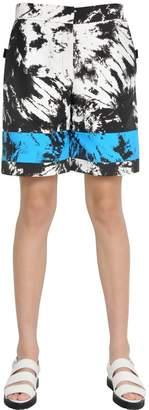 Alexander Wang Tie Dye Printed Nylon Bermuda Shorts