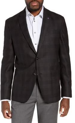 Ted Baker Kyle Trim Fit Plaid Wool Sport Coat