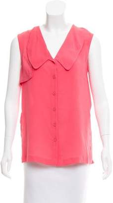 Yigal Azrouel Button-Up Silk Top w/ Tags