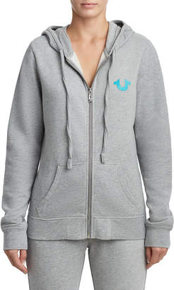 True Religion WOMENS CLASSIC TWO TONE ZIP UP HOODIE