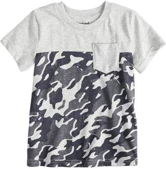 Toddler Boy Jumping Beans Camouflaged Pocket Tee