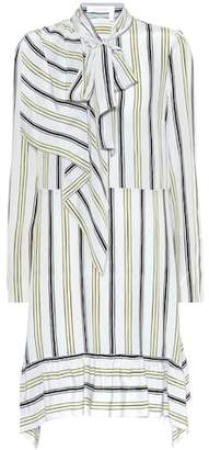 See by Chloe Striped silk minidress