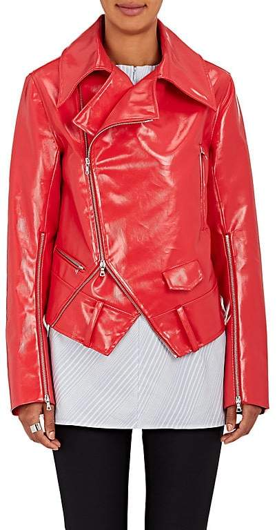 Ji Oh WOMEN'S FAUX-LEATHER RIDER JACKET