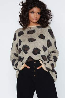 Nasty Gal You Drive Me Wild Leopard Sweater