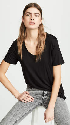 Alexander Wang Drapey Jersey Tee With Darting Detail