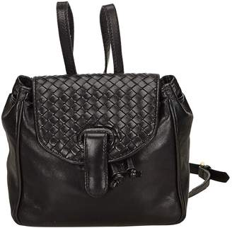 Bottega Veneta Vintage Black Leather Backpacks