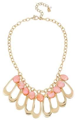Robert Lee Morris Oval Link & Orange Shell Bib Necklace
