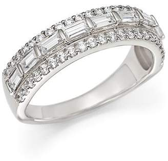 Bloomingdale's Baguette and Round Diamond Ring in 14K White Gold, 1.0 ct. t.w.