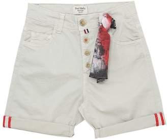 Fred Mello Stretch Gabardine Shorts W/ Bandana