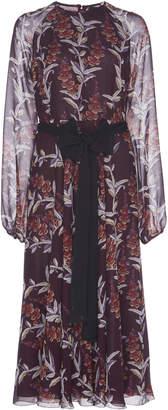 Giambattista Valli Silk Print Midi Dress