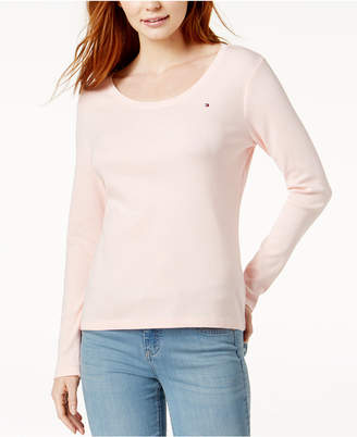 Tommy Hilfiger Cotton Scoop-Neck Top
