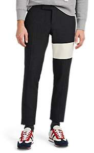 Thom Browne MEN'S CASHMERE-STRIPED WOOL TROUSERS