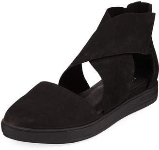 Eileen Fisher Carver Nubuck Crisscross Sneakers